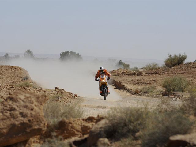 Marc Coma (KTM), líder de la provisional del Rally de Túnez