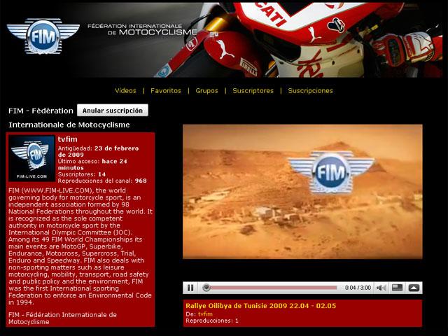La FIM lanza su canal de Youtube
