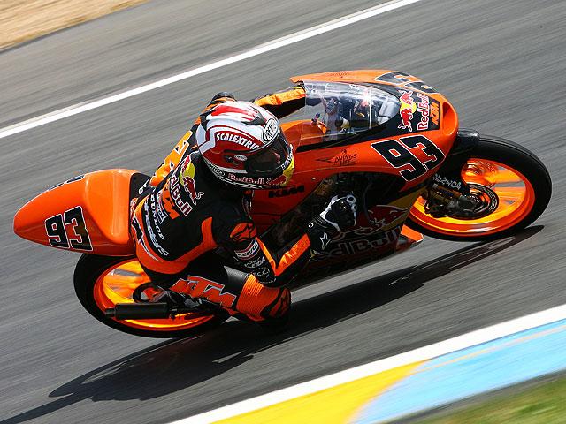 Marc Márquez (KTM), la pole más joven del motociclismo español