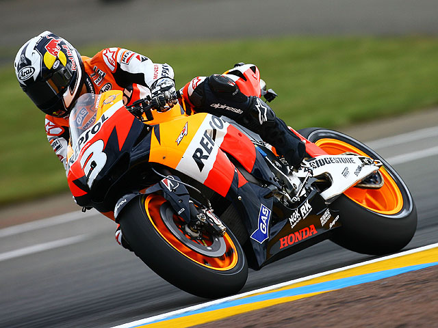 Pole in extremis de Dani Pedrosa (Honda)