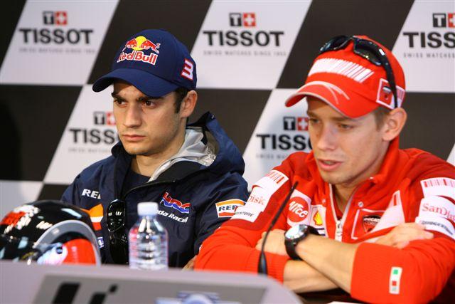 MotoGP: Stoner (Ducati) critica a Pedrosa (Honda)