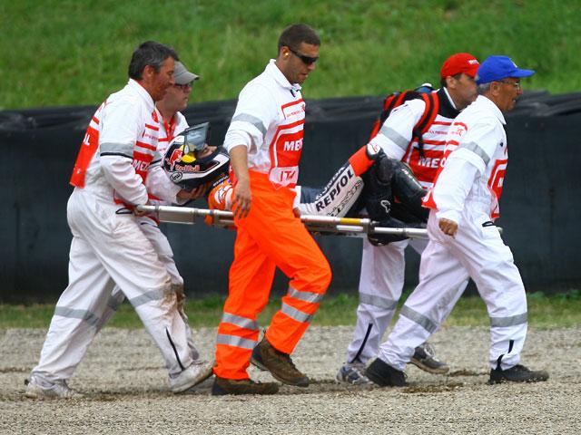Dani Pedrosa en duda para el Gran Premio de Cataluña