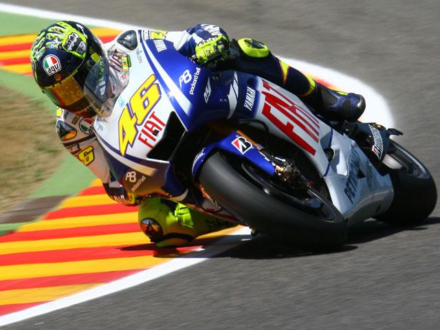 Valentino Rossi, por delante de Lorenzo y Stoner en Montmeló