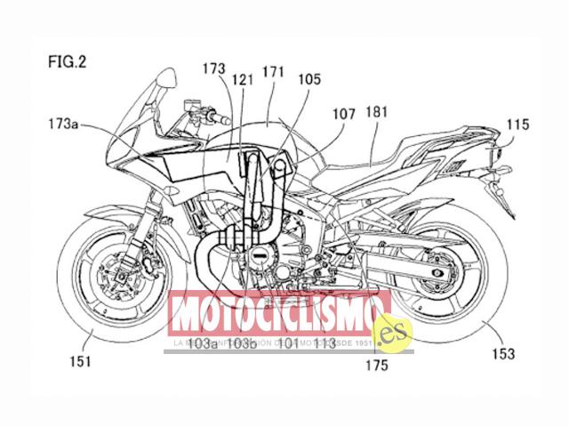 Yamaha patenta varios sistemas para lanzar una moto Turbo