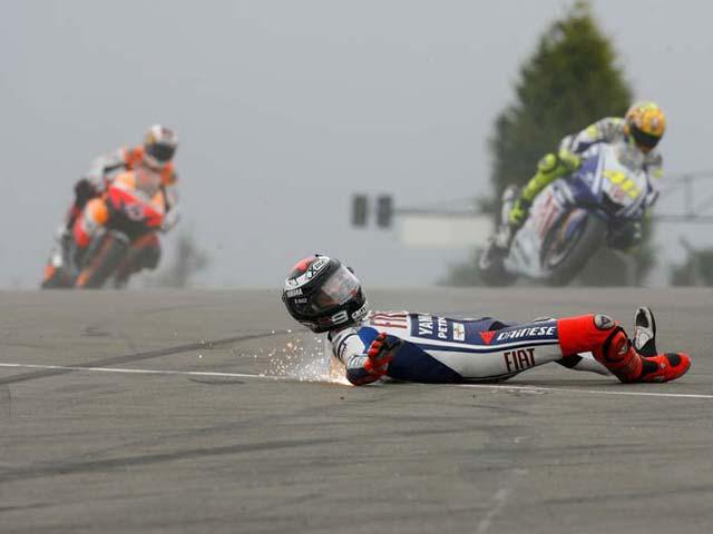 Las caídas del Gran Premio de Gran Bretaña en imágenes