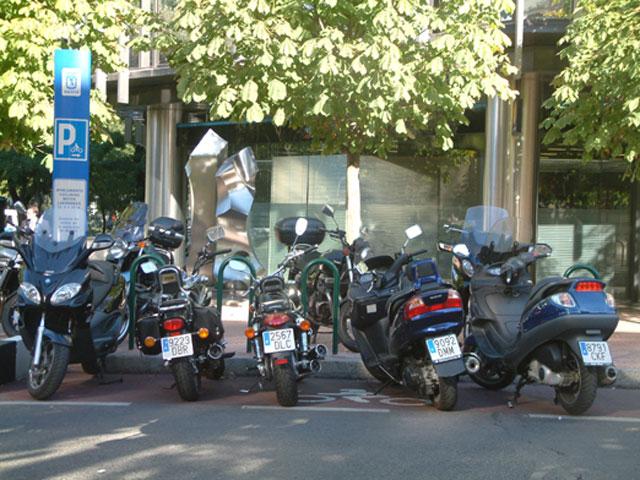 Zona azul para las motos en Barcelona