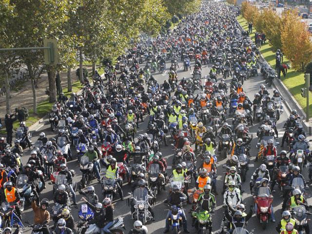 Manifestación Motera en Madrid en noviembre