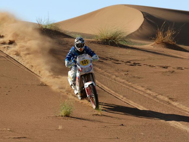 Jordi Viladoms (KTM), primer líder del Rally de Marruecos