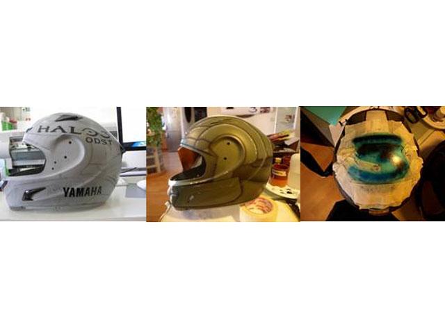 El casco de Jorge Lorenzo en el GP de Valencia, réplica del juego Halo 3
