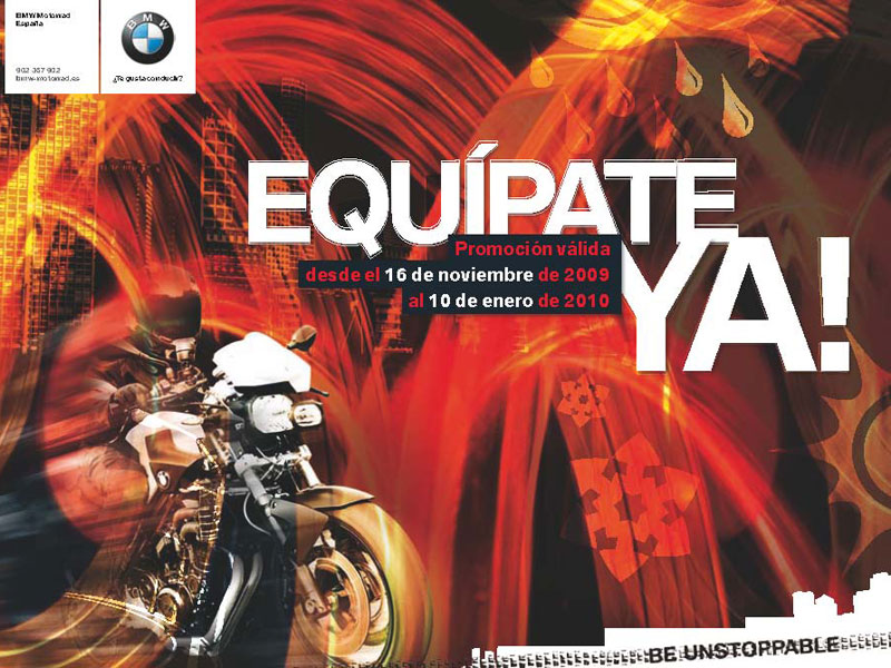 ¡Equípate Ya! con BMW Motorrad