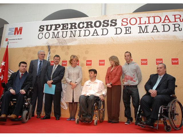 Supercross Solidario de Madrid, presentado por Isidre Esteve