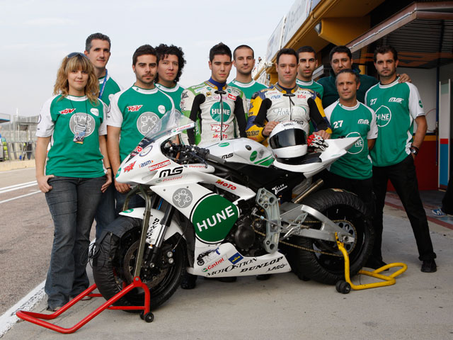 Moto2 de Hune Racing Team y la Universidad Carlos III