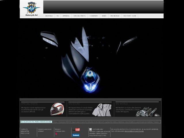 MV Agusta estrena página web