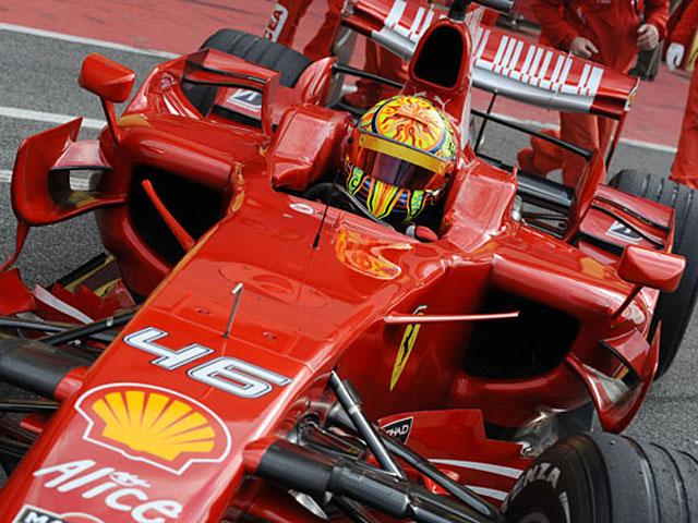 Valentino Rossi, con Ferrari en Montmeló