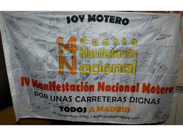 Las banderas de la manifestación motera 14 N ya tienen dueño
