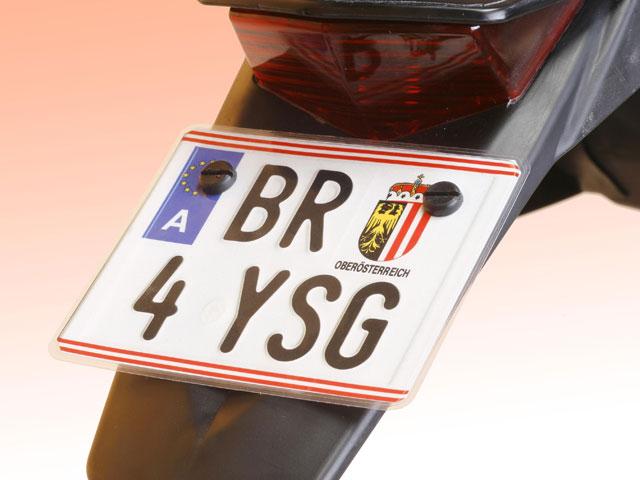 Matrículas pequeñas para motos de enduro y trial