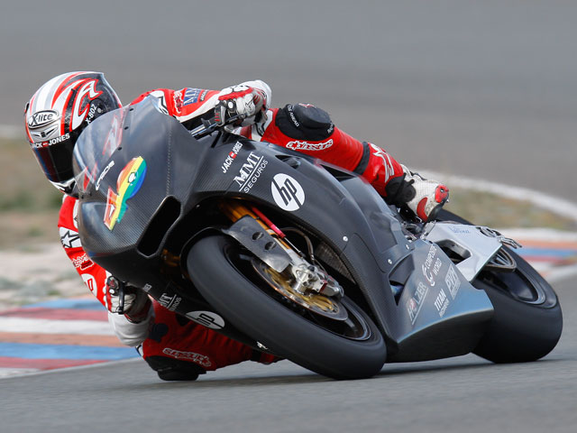 El equipo Pons Racing, en Valencia con las Pons Kalex de Moto2