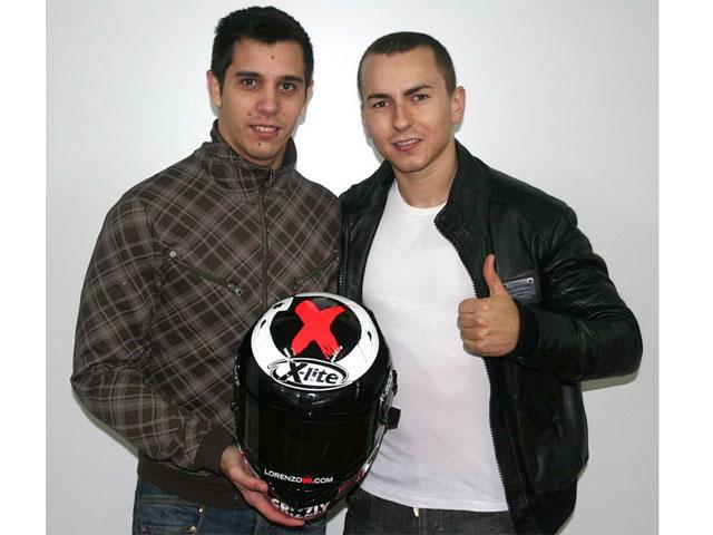 Jorge Lorenzo y X-Lite, patrocinadores de David Salom