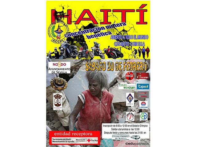Concentración motera en Sevilla por Haití