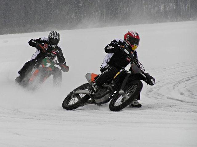 Marc Márquez, en moto sobre el hielo