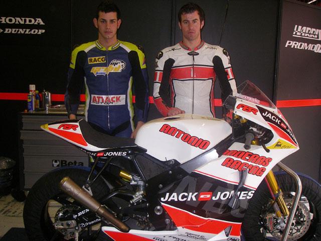 Dani Rivas y Jordi Torres en el MR Griful Team