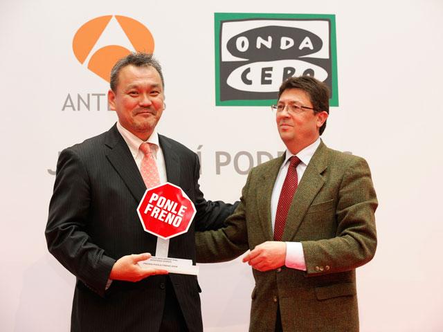 """Honda Instituto de Seguridad premiado por la asociación """"Ponle Freno"""""""