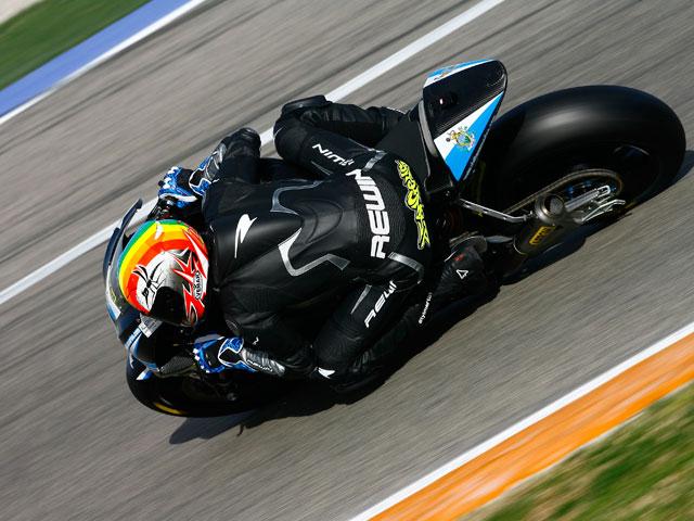 Alex de Angelis, el más rápido en Jerez bajo la lluvia