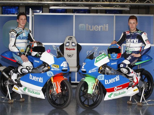 La red social Tuenti, patrocinador del equipo Bainet Derbi de 125 cc