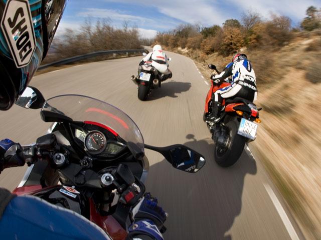Aparcamientos y dispositivos de tráfico para motos en el Gran Premio de Jerez