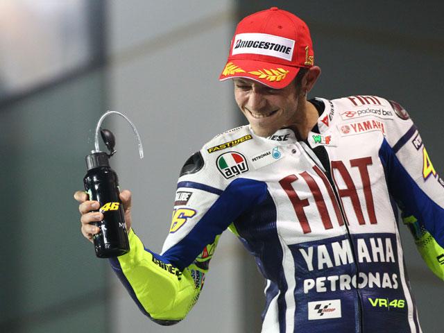 En el box de Valentino Rossi y de Jorge Lorenzo