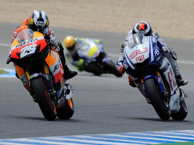 Un fallo electrónico perjudicó a Pedrosa en las últimas vueltas del GP de Jerez