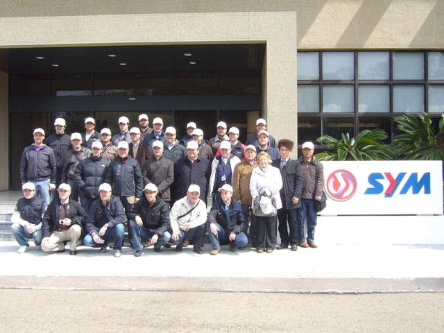 Los concesionarios de motos SYM visitaron Taiwan