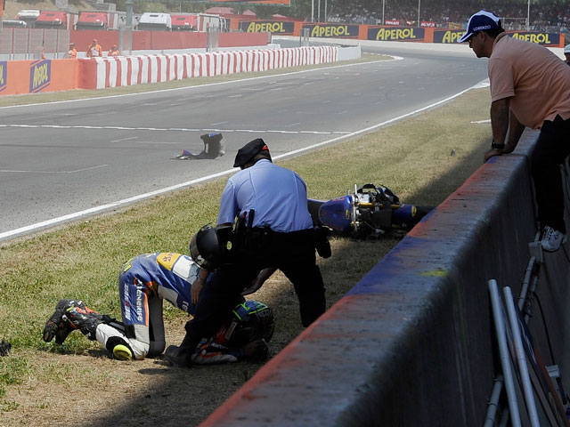 Caídas en el Gran Premio de Catalunya