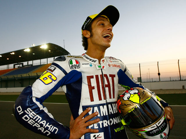 Valentino Rossi rueda en Misano