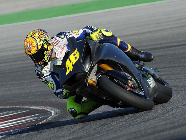 Valentino Rossi completa sus primeros test tras la caída en el GP de Italia