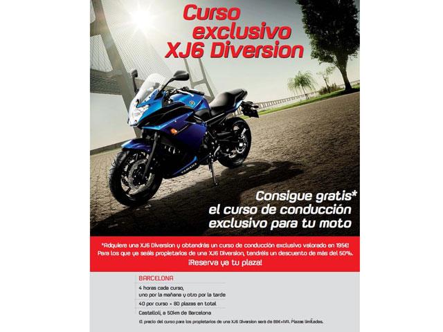 Cursillo de conducción gratuito Yamaha XJ6 Diversion