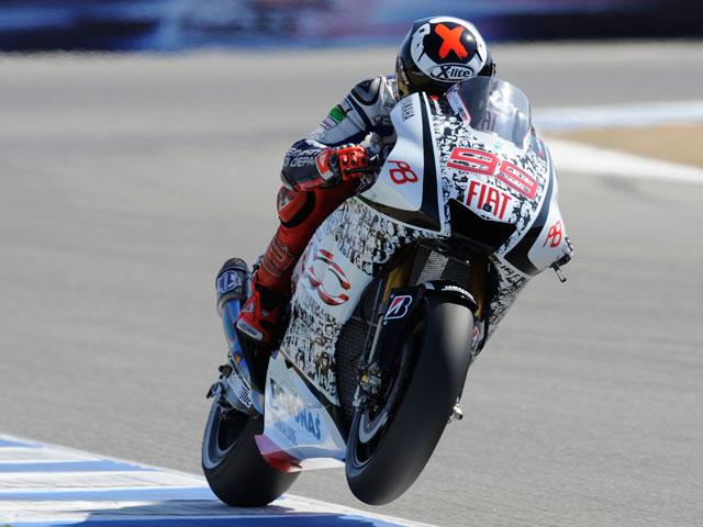 "Lorenzo logra la ""pole position"" en Laguna Seca"