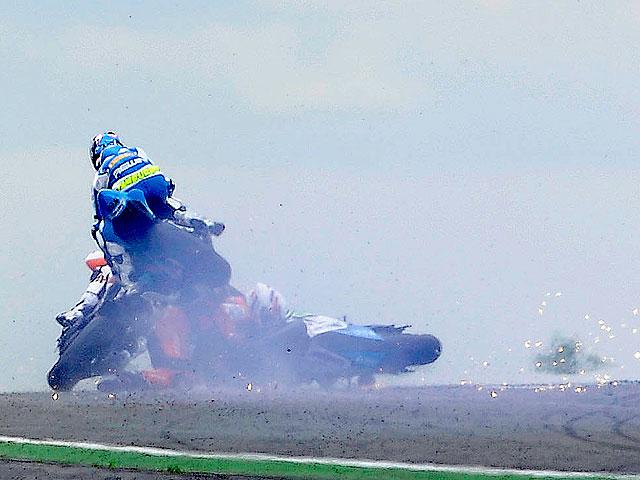 Joan Lascorz se recupera favorablemente tras su caída en el Mundial de Superbike