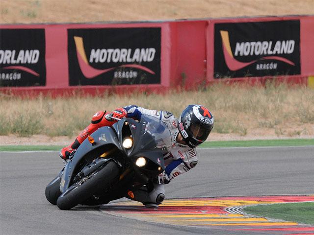 Jorge Lorenzo rueda en Motorland Aragón