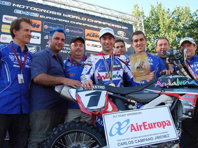 Carlos Campano, Campeón del Mundo de MX3