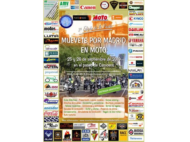 3ª fiesta de Muévete por Madrid en moto