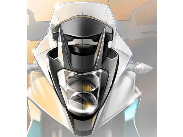 Imagen frontal de la nueva Honda con motor V4