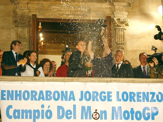 Recepción de Jorge Lorenzo en Mallorca