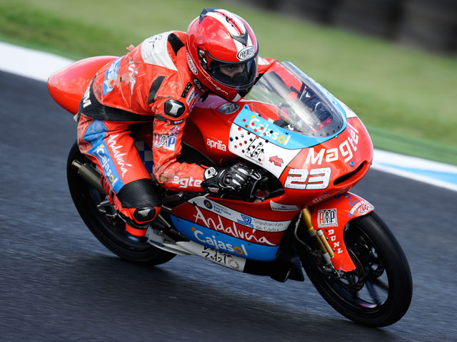 Alberto Moncayo, el más rápido en los libres del GP de Portugal de 125cc