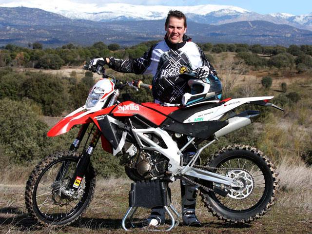 Antonio Gimeno correrá el Dakar con Aprilia