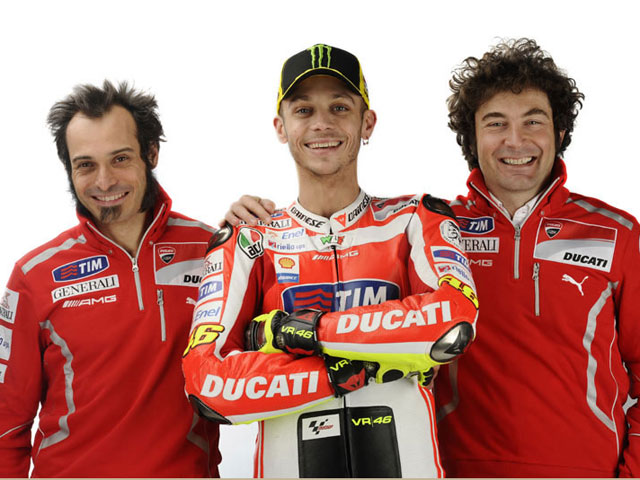 Galería de fotos de Valentino Rossi con los colores de Ducati