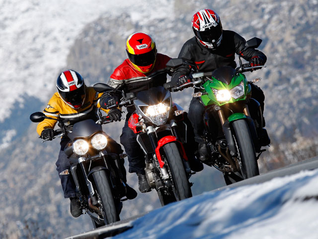 Naked al rojo vivo: Kawasaki Z750R, Triumph Street Triple R y Aprilia Shiver 750