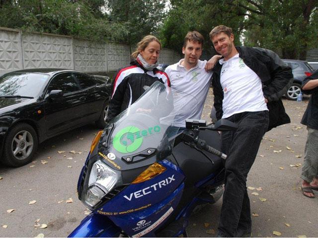Vuelta al mundo en moto eléctrica