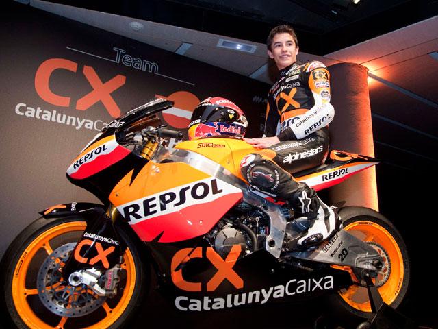 Presentación de la moto de Marc Márquez en Barcelona