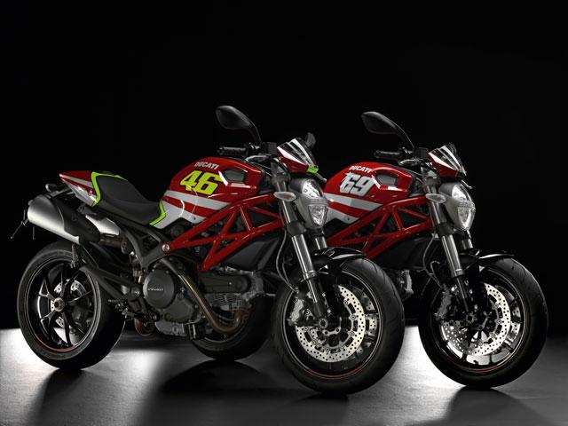Ducati Monster Valentino Rossi y Nicky Hayden Réplica